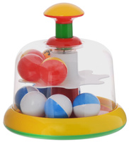 Купить Stellar Юла-карусель с шариками цвет желтый 01322, Первые игрушки