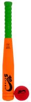 Купить Safsof Игровой набор Бейсбольная бита и мяч цвет оранжевый салатовый красный, Спортивные игры