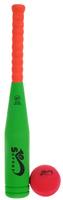 Купить Safsof Игровой набор Бейсбольная бита и мяч цветзеленый оранжевый красный, Спортивные игры