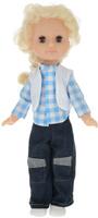 Купить Пластмастер Кукла озвученная Наташа цвет одежды белый голубой темно-синий, Куклы и аксессуары