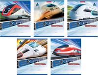 Купить Erich Krause Набор тетрадей Express Train 18 листов в линейку 10 шт цвет голубой, Тетради
