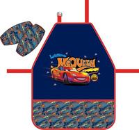 Купить Disney Фартук детский Тачки Ретро ралли с нарукавниками, Аксессуары для труда