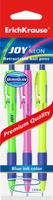 Купить Erich Krause Набор шариковых ручек Ultra Glide Technology Joy Neon 3 шт 43344, Ручки