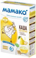 Купить Мамако каша пшеничная с грушей и бананом на козьем молоке, 200 г, Детское питание