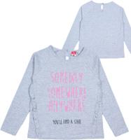 Купить Джемпер для девочки Cherubino, цвет: серый меланж. CWK 61730 (160). Размер 122, Одежда для девочек