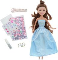 Купить Funville Игровой набор с куклой Sparkle Girlz с аксессуарами для украшения платья цвет платья голубой, Куклы и аксессуары