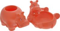Купить Весна Игрушка для ванной Бегемотики цвет оранжевый, Первые игрушки