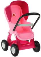Купить Полесье Коляска для кукол прогулочная цвет розовый, Куклы и аксессуары