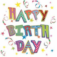 Купить Салфетки Pol-Mak Daisy Happy Birthday , трехслойные, 33 х 33 см, 20 шт, Сервировка праздничного стола