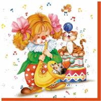Купить Салфетки Pol-Mak Maki Клоун , трехслойные, 33 х 33 см, 20 шт, Сервировка праздничного стола