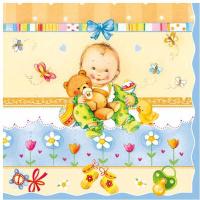 Купить Салфетки Pol-Mak Maki Baby , трехслойные, 33 х 33 см, 20 шт, Сервировка праздничного стола