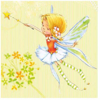 Купить Салфетки Pol-Mak Маленькая фея , трехслойные, 33 х 33 см, 20 шт, Сервировка праздничного стола