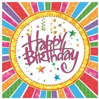 Купить Салфетки Pol-Mak Maki Happy Birthday , трехслойные, 33 х 33 см, 20 шт, Сервировка праздничного стола