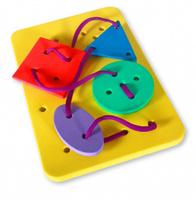 Купить Бомик Игра-шнуровка Геометрические фигуры в ассортименте, Обучение и развитие