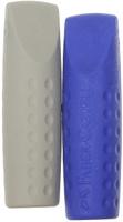 Купить Faber-Castell Ластик-колпачок Grip 2001 цвет синий серый 2 шт, Чертежные принадлежности