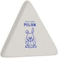 Купить Milan Ластик 3X3 треугольный цвет белый, Чертежные принадлежности