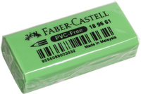 Купить Faber-Castell Ластик флуоресцентный цвет зеленый 189661, Чертежные принадлежности