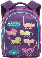 Купить Grizzly Рюкзак детский Коты цвет фиолетовый, Ранцы и рюкзаки