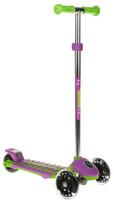 Купить Самокат Small Rider Cosmic Zoo Galaxy Maxi , 3-колесный, с ручным тормозом, цвет: зеленый, фиолетовый, Самокаты
