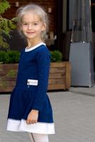 Купить Платье для девочки Let's Go, цвет: синий. 8121. Размер 92, Одежда для девочек