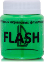 Купить Luxart Краска акриловая LuxFlash цвет зеленый флуоресцентный 80 мл, Краски