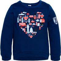 Купить Толстовка для девочки Let's Go, цвет: синий. 6138. Размер 122, Одежда для девочек