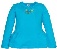 Купить Футболка с длинным рукавом для девочки Let's Go, цвет: голубой. 6134. Размер 104, Одежда для девочек
