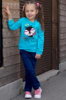 Купить Толстовка для девочки Let's Go, цвет: голубой. 6133. Размер 104, Одежда для девочек