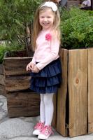 Купить Водолазка для девочки Let's Go, цвет: розовый. 6131. Размер 128, Одежда для девочек