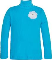 Купить Водолазка для девочки Let's Go, цвет: голубой. 6131. Размер 122, Одежда для девочек