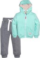 Купить Спортивный костюм для девочки Let's Go, цвет: бирюзовый. 1118. Размер 98, Одежда для девочек
