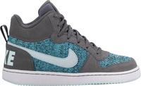Купить Кеды для девочки Nike Court Borough Mid SE (GS), цвет: черный, бирюзовый. 922846-001. Размер 3, 5 (34, 5), Обувь для девочек