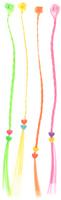 Купить Partymania Цветные декоративные пряди для волос цвет салатовый розовый желтый 4 шт, Украшение волос, лица и тела