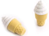 Купить Эврика Набор ластиков Мороженое цвет белый 2 шт, Чертежные принадлежности