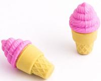 Купить Эврика Набор ластиков Мороженое цвет розовый 2 шт, Чертежные принадлежности
