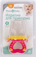 Купить Mum&Baby Ниблер с силиконовой сеточкой, цвет: розовый, Посуда для самых маленьких