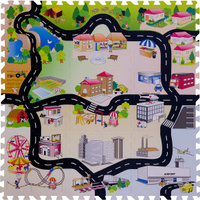 Купить Funkids NT Коврик-пазл с дорогами Город-2, Развивающие коврики