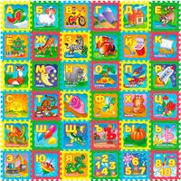 Купить Funkids NT Коврик-пазл с рисунками Русская Азбука, Развивающие коврики