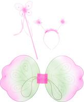 Купить Новогодняя сказка Карнавальный костюм для девочки Бабочка цвет зеленый розовый 973109, Карнавальные костюмы и аксессуары