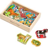 Купить Melissa & Doug Обучающая игра Деревянные магнитные животные, Обучение и развитие