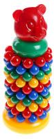 Купить Строим вместе счастливое детство Пирамидка с шарами Маленький мишка, Строим вместе счастливое детство (СВСД), Развивающие игрушки