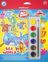 Купить Erich Krause Набор для раскрашивания 3D-фигурок Art Berry Sea World, Конструкторы