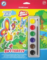 Купить Erich Krause Набор для раскрашивания 3D-фигурок Art Berry Butterfly, Конструкторы