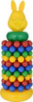 Купить Строим вместе счастливое детство Пирамидка с шарами Зайка, Строим вместе счастливое детство (СВСД), Развивающие игрушки