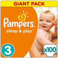 Купить Pampers Подгузники Sleep & Play 5-9 кг (размер 3) 100 шт