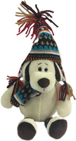 Купить Teddy Мягкая игрушка Собака в шапке 18 см, Мягкие игрушки
