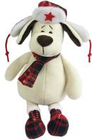 Купить Teddy Мягкая игрушка Собака в ушанке с шарфом 18 см, Мягкие игрушки