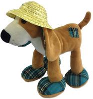 Купить Teddy Мягкая игрушка Собака в соломенной шляпе 23 см, Мягкие игрушки