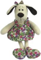 Купить Teddy Мягкая игрушка Собака в платье с цветами 16 см, Мягкие игрушки