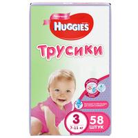 Купить Huggies Трусики-подгузники для девочек 7-11 кг (размер 3) 58 шт, Подгузники и пеленки